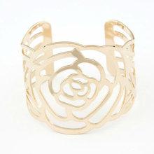 Модные золотые браслеты Браслеты полые из роз Браслеты BA35
