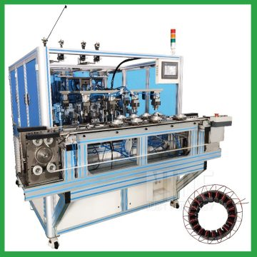 Fully automatic inverter motor stator coil winding machine