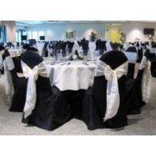 tampa da cadeira banquete universal de poliéster, tampa de mesa toalhas de mesa para casamento hotel