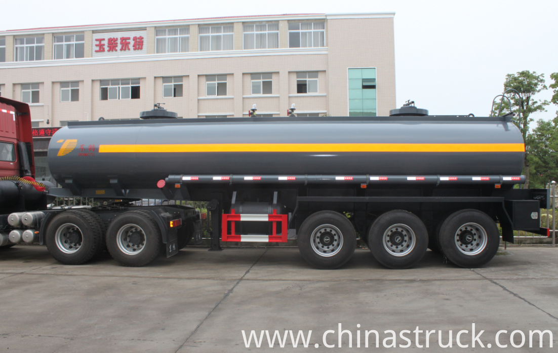 Sulfuric acid tank semi-trailer