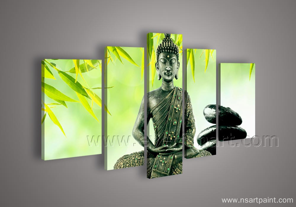 modern buddhas oil painting for wall decoration