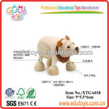 Wooden 3D Models Toys - Polar Bear Toy