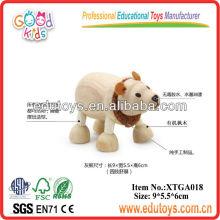 Modelos em madeira de modelos 3D - Brinquedo de urso polar