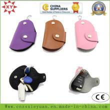 PU ou saco de couro real chave com logotipo personalizado