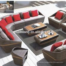 Waterproof wicker sofa outdoor rattan furniture sofa set