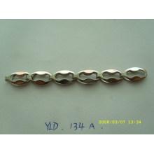 Cadena plana de cobre amarillo de encargo del metal del estilo de la manera para el monedero