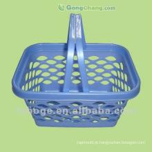 molde de cesta de armazenamento de plástico