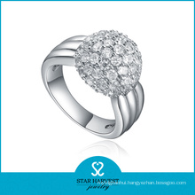 10 Years Manufacturer 925 Sterling Silver Plating Ring Design (R-0356)