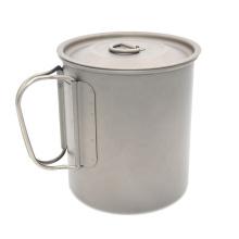 750ML Custom Travel Titanium Cup With Handle