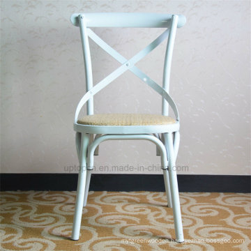 European Classical Cross Back White Metal Chair for Event (SP-MC059)