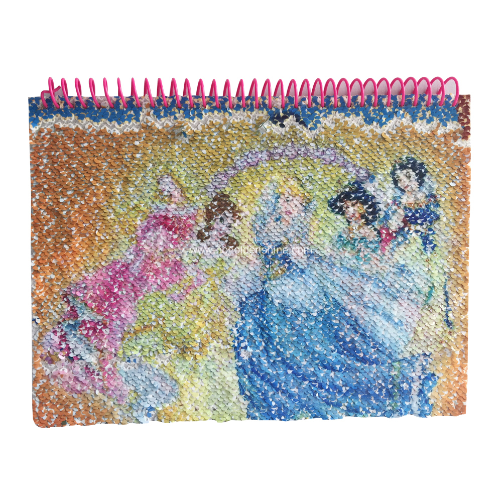 Sequin Transfer Journal Diary Notebook