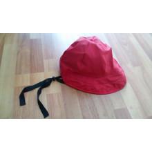 Твердые красные пу Дождезащитный колпак с ремешком для взрослых