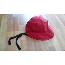 Feste rote PU Regenkappe mit Gurt für Erwachsene