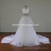 XF16070 Le plus récent design de robes de mariée avec des arcs sur la ligne de taille