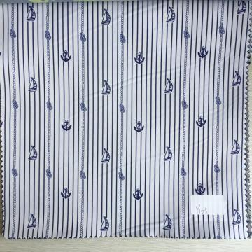 Sailing and Hooks Navy/White Printed Lining