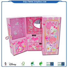 Handgemaakte Karton Kitty Cartoon Kinderjuwelen Set Box