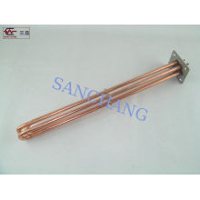 Industrial Electric Copper Heating Element For Gas , Plated Nickel