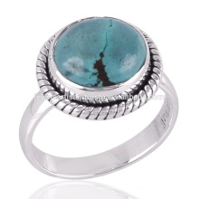 Very Pretty 925 Sterling Silver & Natural Tibetan Turquoise Birthstone Jewelry