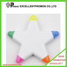 Qualidade superior baratos personalizadas logotipo flor forma highlighter caneta (ep-p6266-69)