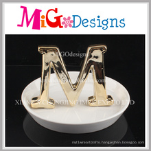 High Quality Ceramic Craft with Letter Ring Holder
