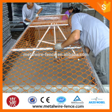 Galvanized/PVC coated Temporary chain link fence