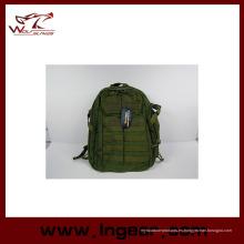 Nylon al aire libre escuela de impermeable deporte militar mochila moda bolso # 023 Od