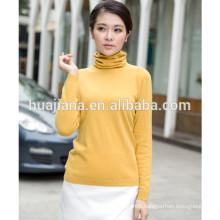 ladie's cashmere basic design sweater