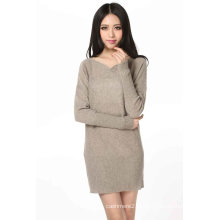 Vestido de caxemira de manga comprida para mulher (3092-2013029)
