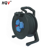 hand operated 3 pin electrical cable reel drum