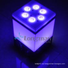 9 * 14W Rgbawuv 6in1 DMX inalámbrico LED con pilas Lámparas de interior