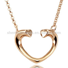 rose gold plating heart necklace stainless steel necklace for women
