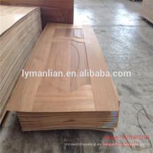 Puerta principal diseño de madera tablero de la puerta natural de la puerta de la piel