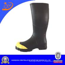 Мода Желтый воротник широкий теленка резиновые сапоги