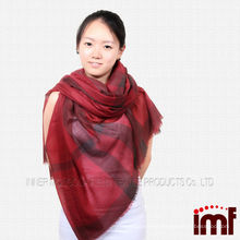 Best-selling New Design Mech Scarf Cashmere Yarn Dyed shawl