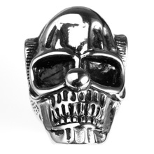 Custom Design odlewania Skull Thumb Rings