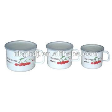 enamelware with PP lid and SS rim