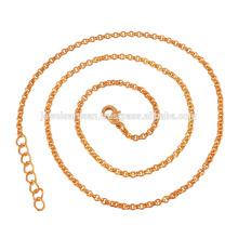 Belle chaîne en laiton plaqué or 18 carats dans une longueur de 20 pouces pour un cadeau simple