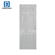 Fangda 6 panels primed white steel flush panel