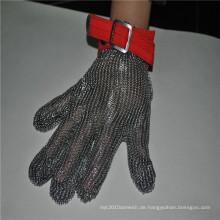 Hitzebeständige Handschuhe aus rostfreiem Stahl für Metzgerhandschuh