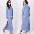 Wholesale Slim Fitness Clothing Ladies Long Sleeve Polo Collar Casual Shirts Long Dress Shirt Women