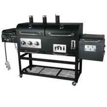 New Design Gas & Charcoal Grill with 4 Burners