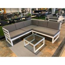Aluminium Sofa Set Factory Wholesale Concise Style Outdoor Outdoor Furniture Garden Sofa Alu. Sofa Set of 3 2 Years Minimalist