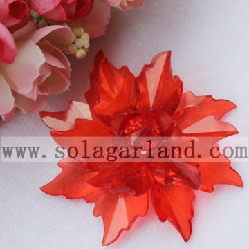 64MM Handmade Transparent Multilayer Artificial Bead Flower