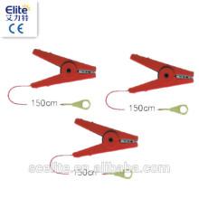starke elektrische Zaun Krokodilklemmen, Kabel aufhängen, führen Kabel für Elektrozaun Band