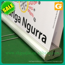Retractable roller banner pull up banner