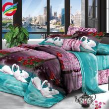 Atacado 100% poliéster cores brilhantes cama tecido