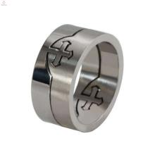 Venda quente removível anel cruz celta, anel de cruz maltesa, cross cross anel