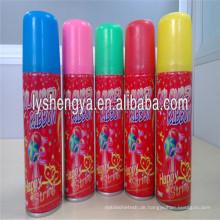 Mehrfarbiger Partyschnurspray 750ml Weihnachtsfliegenschnee