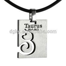 Acier inoxydable Taurus Pendentif Signes du zodiaque Colliers