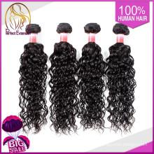 Amostras grátis de cabelo humano virgem trançado Hairpieces para mulheres negras